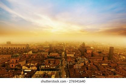 Bologna sunset, Italy