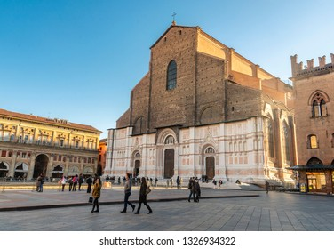 Bologna/Italy - 12.28.2018:The view on the amazing Bologna city in Italy