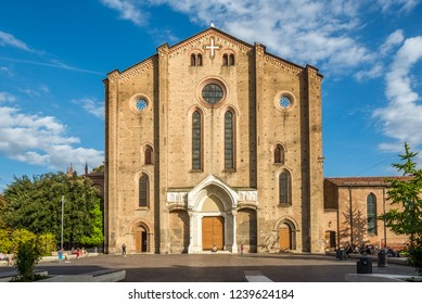 BOLOGNA,ITALY - SEPTEMBER 24,2018 - View at the facade of Basilica San Francesco in Bologna. Bologna is the capital and largest city of the Emilia-Romagna Region.