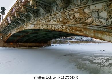 bolshoy konyushennyiy bridge, Sankt-Peterburg, Russia