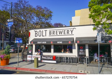Bolt Brewery and pub in San Diego - SAN DIEGO / CALIFORNIA - APRIL 21, 2017