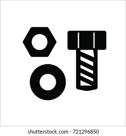Bolt and nut icon