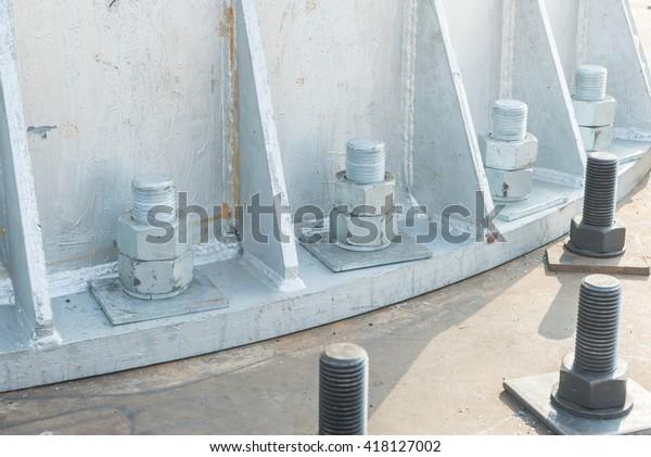 Bolt Nut Transmission Monopole Stock Photo (Edit Now) 418127002