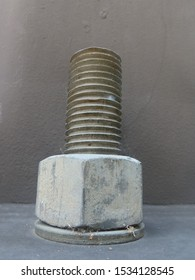 bolt with washer extra large sizes on a streetlamp