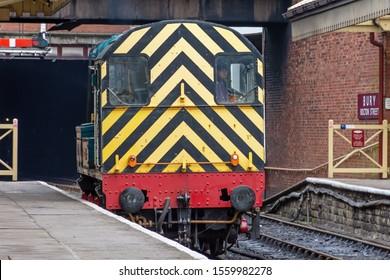 Bolton Street Railway Station - Bury,Lancashire/England - 09.11.2019 - Diesel Shunter in operation on platform 3