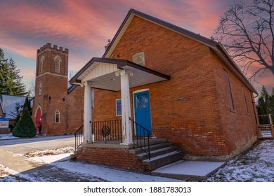 Bolton's True Blue Masonic Hall in Bolton, Ontario, Canada constructed in 1858.