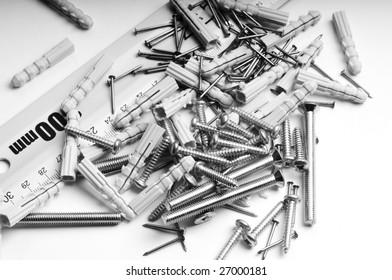 bolts, nuts, steel