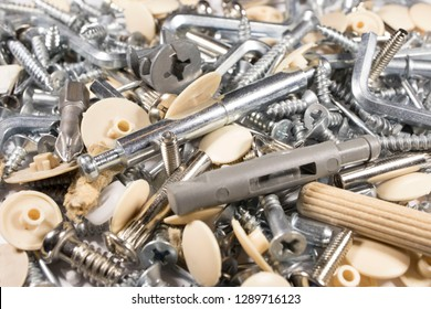 bolts, screws, rivets, construction keys, fasteners, furniture Assembly concept