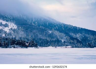 Bolu- Abant lake winter landscape