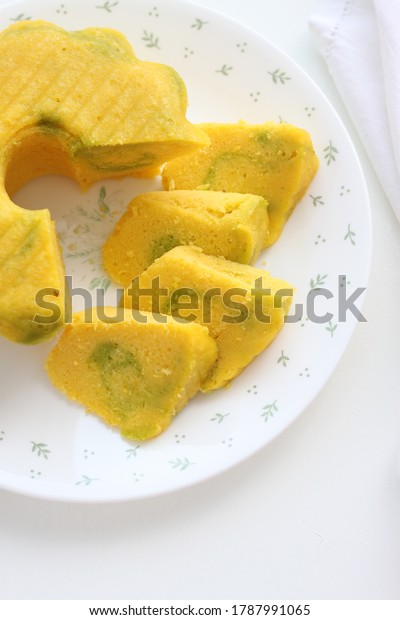 Bolu Kukus Labu Steamed Pumpkin Cake Stock Photo Edit Now 1787991065