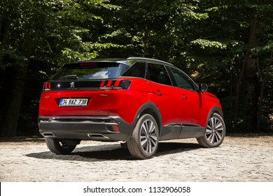 Bolu/Turkey - June 20 2018 : Peugeot 3008 is a compact crossover unveiled by French automaker Peugeot.