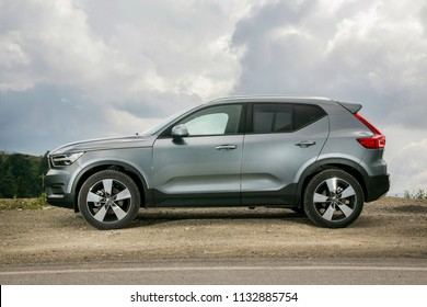 Bolu/Turkey - June 20 2018 : Volvo XC40 is a compact crossover SUV manufactured by Volvo Cars.