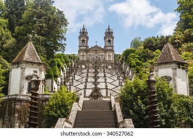 Bom Jesus church in Braga, Portugal
