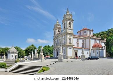 Bom Jesus do Monte сhurch near the city of Braga, Portugal