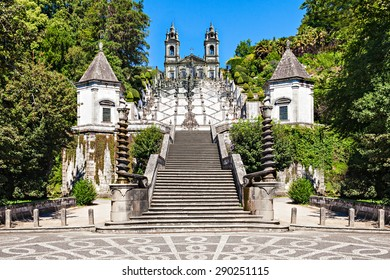 Bom Jesus do Monte is a Portuguese sanctuary near Braga, Portugal