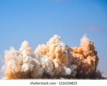 A bomb blast in the Palestine