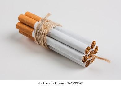 Bomb Cigarette on white background