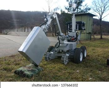 A bomb disposal robot