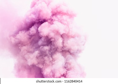 Bomb smoke background,Smoke caused by explosions,Pink smoke like clouds background.