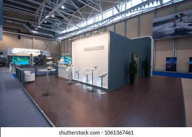 Bombardier booth at Jet Expo 2013 Exhibition, 14-09-2013, Russia, Moscow, Vnukovo-3 airport