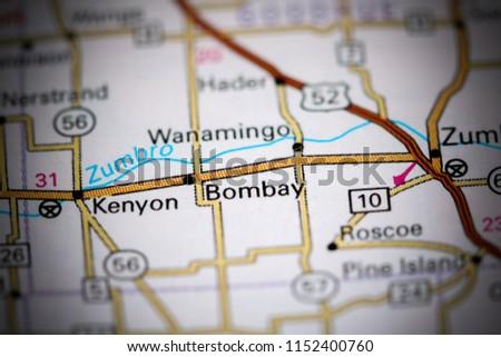 Bentonsport Iowa Map.Bombay Iowa Usa On Map Stock Photo Edit Now 1152400760 Shutterstock