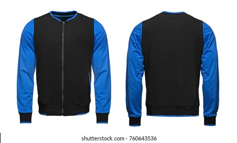 Bomber Jacket template used for your design isolated on white background with clipping path.