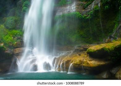Bomod Ok falls, at the end of the hiking trail in barangay Banga-An, Sagada Mountain Province.