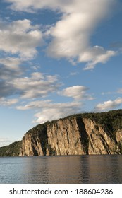 Bon Echo cliffs with good copy area in the sky