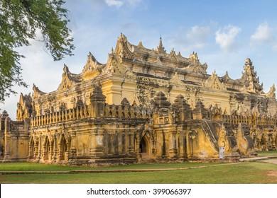 Bon Zan Monastery in Inwa (ancient city of Ava) near Mandalay,myanmar