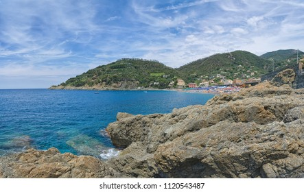 Bonassola beach and coast - Ligurian sea