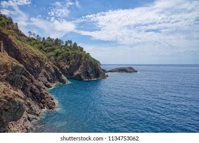 Bonassola coastline - Ligurian Sea - Liguria - Italy