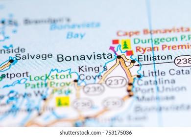 Bonavista Canada On Map Stock Photo Edit Now 1030098646 Shutterstock