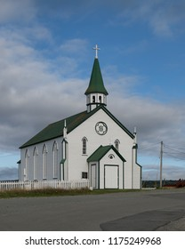 BONAVISTA, NEWFOUNDLAND/CANADA - JULY 28, 2018: Exterior of the historic Saint Joseph's Roman Catholic Church on Chapel Hill in Bonavista