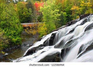 Bond Falls is a spectacular waterfall on the Ontonagon River in northern Michigan