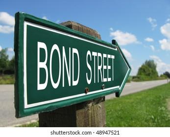 BOND STREET road sign