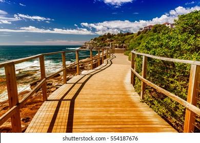 Bondi Beach landscape, Sydney on a sunny day.