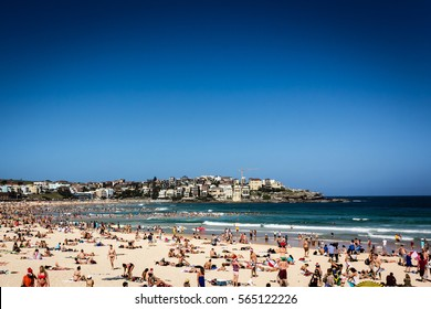 Bondi Beach on Christmas Day - Australia