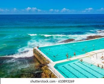 Bondi Beach with Swimming Pool in Sydney
