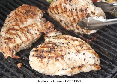 Boneless Chicken Breasts on Grill
