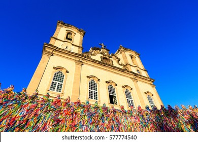 Bonfim Church during sunset, the most famous  religious sight in Salvador.