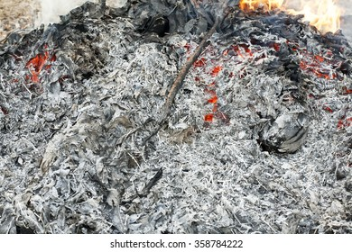 bonfire with leaf