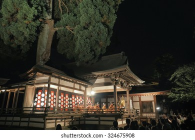 Bonfire and Noh stage - Shutterstock ID 324675908