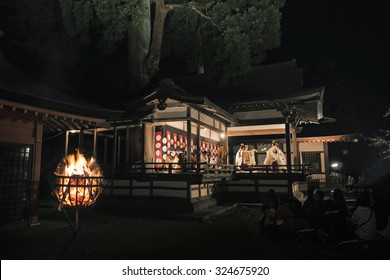 Bonfire and Noh stage - Shutterstock ID 324675920