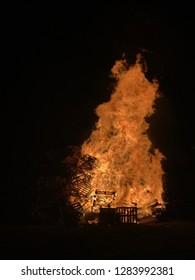 Bonfire on Wood