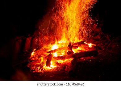 bonfire used in gang, traditional feast of the month of June and July.