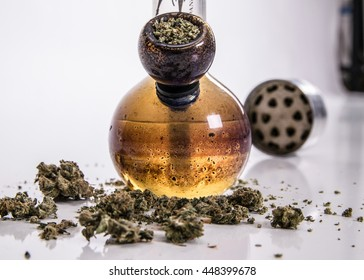 bong and marijuana