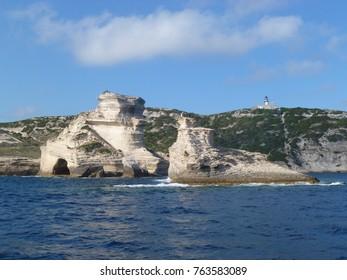 Bonifacio cliffs, Freto, Corsica, France, Europe