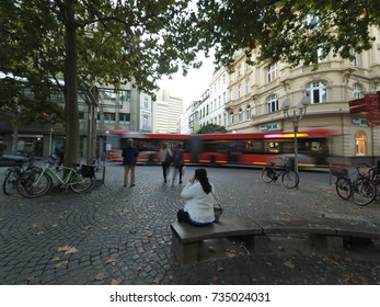 Bonn, Germany, 14 of October 2017: Square in Centerof the Bonn.