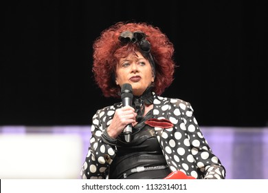 Bonn, Germany. 20th Oct 2017. Patricia Quinn (* 1944), actress - The Horror Picture Show - talking about her experiences during a panel at Fear Con, a horror fan convention