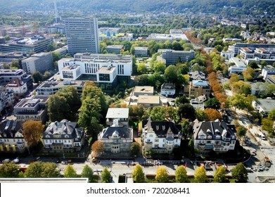 Bonn, Germany 21 of september 2017: View at Bonn City buildings from Langer Eugen UN Building
